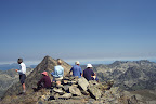 Group on the summit of the Pic of Coma D