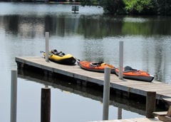 Kayaks On The Dock