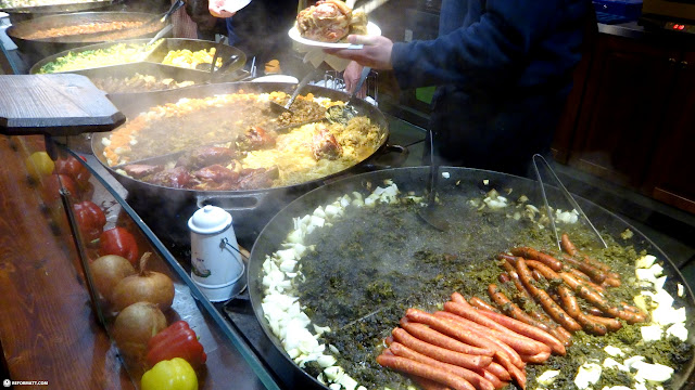 incredible food at the alexanderplatz christmas market in Berlin, Berlin, Germany