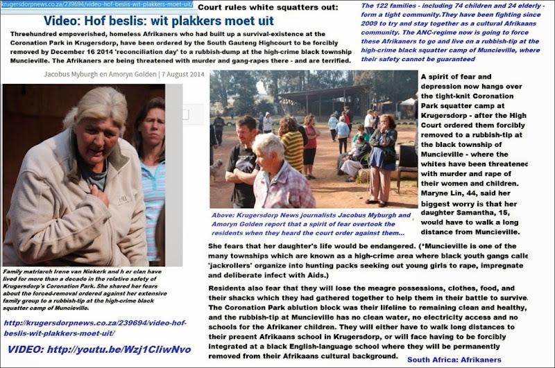 AfrikanerSquattersKrugersdorpForcedRemovalKrugerdorpRekordPage1