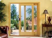 Pinnacle Wood Clad sliding patio doors by Windsor