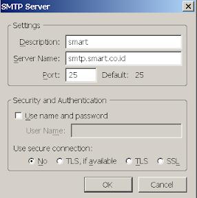 Setting SMTP Smartfren