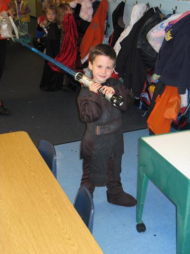 Eli posing as Anakin Skywalker