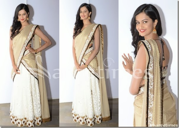 White_Cream_Half_Saree