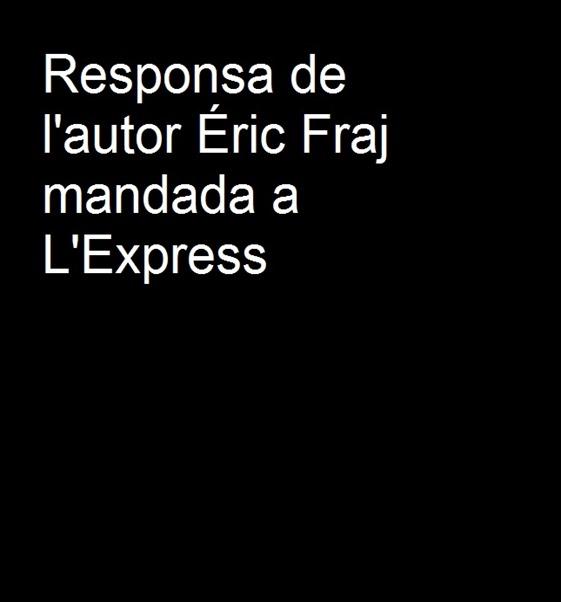 Responsa d'Éric Fraj