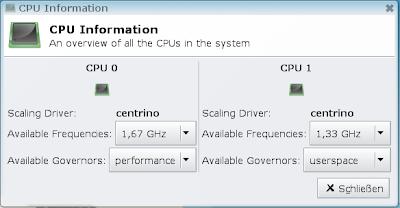 Xfce4 CpuFreq Plugin