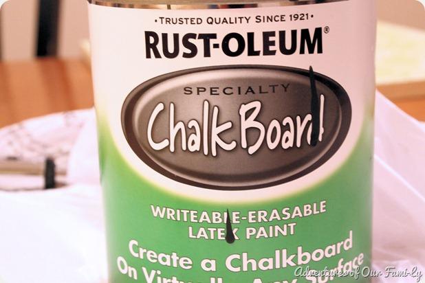 kichen organization chalkboard paint