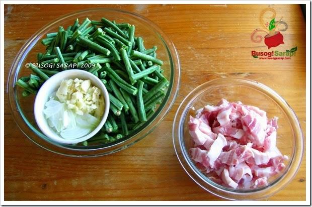 sitaw ingredients© BUSOG! SARAP! 2009