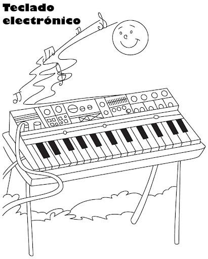 TECLADO MUSICAL DIBUJOS PARA COLOREAR | Dibujos para colorear