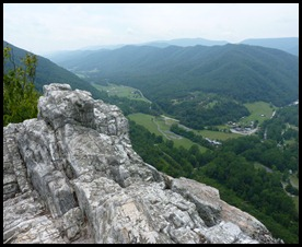 Seneca Rocks WV-View from the top