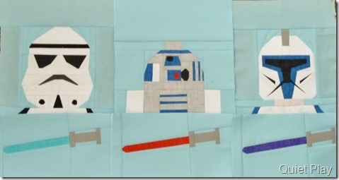 Paper pieced LEGO Star Wars blocks