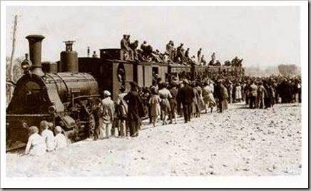 Trenes especiales para la inauguración aeropuerto de Manises. 1932