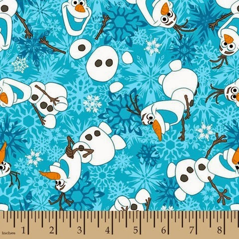 Frozen Snowman Flannel