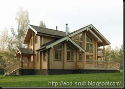 преимущества строительства сруба дома 1