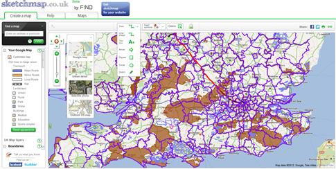 Personaliza los mapas de Google con Sketchmap