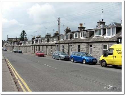 18thC Mill workers cottages in Dalbeattie. All the attic additions are 20th century.