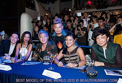 Dick Lee Judges for Best Model of the World 2012 Singapore finals Addie Low, Kevin Khoo, Annetha Ayyavoo Cheryl Talam Hansen Winners Lewis Anthony Stokes Mel Zhu for Istanbul Turkey grand finals 2012,