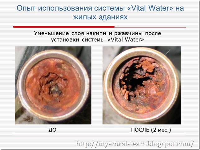 Опыт использования системы Vital Water