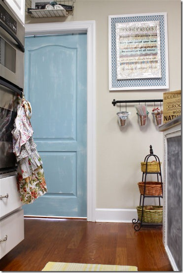 turquoise interior door via perfectly imperfect blog