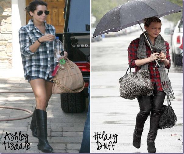Camisa-Xadrez-Ashley-Tisdale-Hilary-Duff