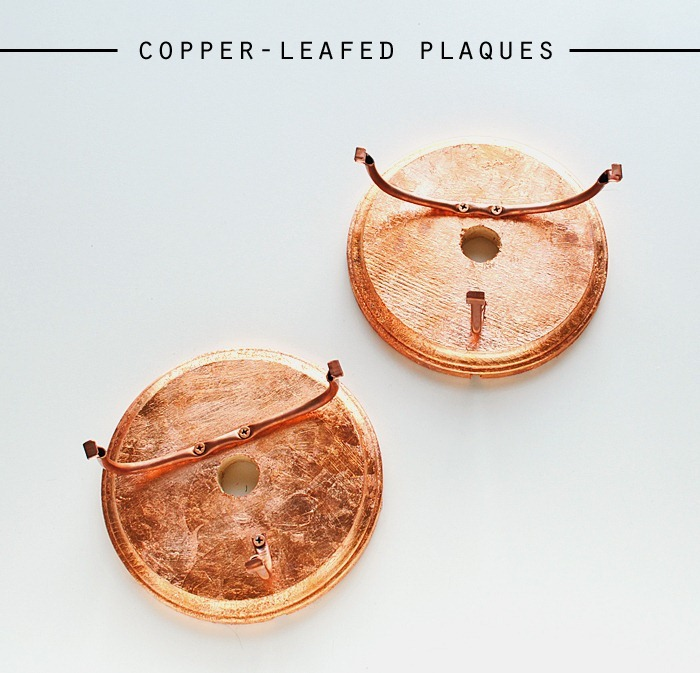 copper leafed plaques