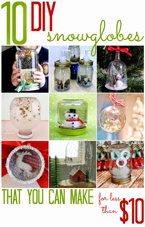 10 DIY Snowglobes (that you can make for less than $10)