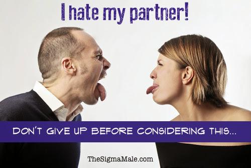I hate my partner