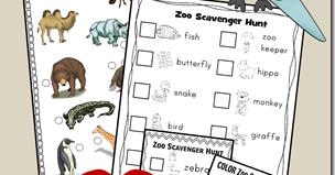 17 free zoo scavenger hunts toddler 6th grade. Black Bedroom Furniture Sets. Home Design Ideas