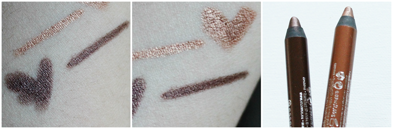 Essence Stays No Matter What eyepencil and shadow  cute copper chocolate brownie