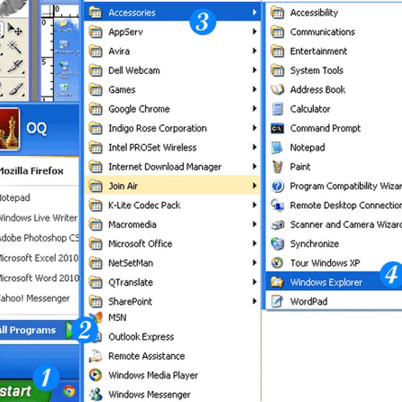 Berbagai Cara Menjalankan Windows Explorer Pada Windows XP