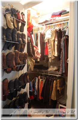 Master Closet After {A Sprinkle of This . . . . A Dash of That}