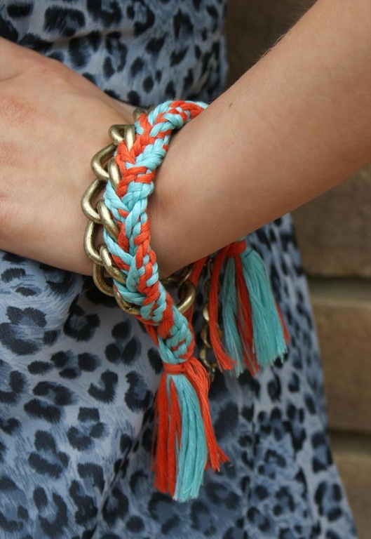 Coral and Turq Charlie Bracelet, £24, Never Fully Dressed