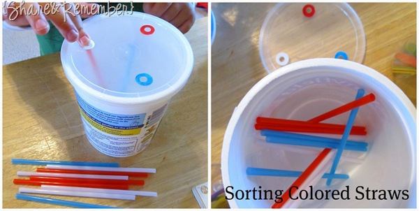 Sorting Colored Straws