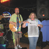 Don got new MCPHINS member Tina on stage to help with a song.