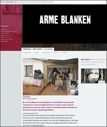arme blanken saskia vredeveld IKON documentary hollanddoc.nl kijk luister documentaire a arme blanken