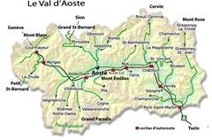 valle d'aosta cartina