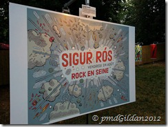 Sigur Ros Rock en Seine 2012. Artiste Jochen Gerner