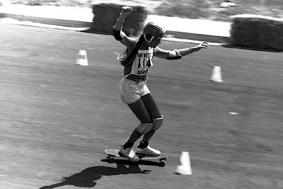 Robin racing cones at La Costa in the Y.M.C.A. Contest in 1977.