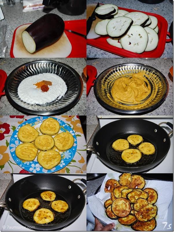 Eggplant roast process