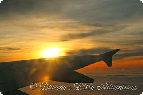 clouds, sunrise, plane, hong kong, cebu pacific