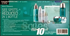 Olay FREE Discounts Voucher on White Radiance Range Guardian & Watsons Malaysia 2013 Deals Offer Shopping EverydayOnSales