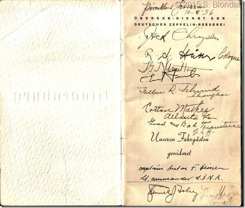 Passenger list signatures