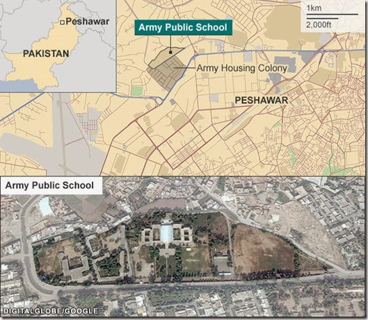 Pakistan Army School Peshawar - map & satellite