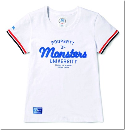 Monster University X Giordano - White Tee shirt  Women 03
