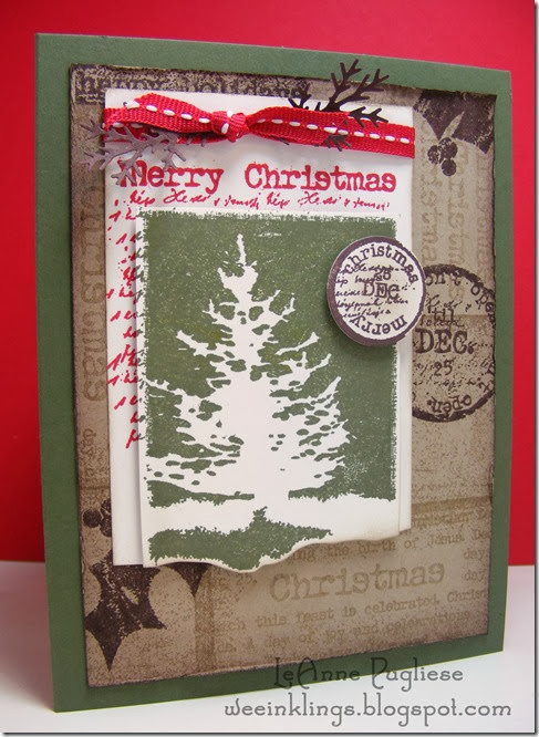 LeAnne Pugliese WeeInklings ColourQ219 Christmas Stampin