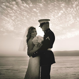 by Nathanael Ensley - Wedding Bride & Groom