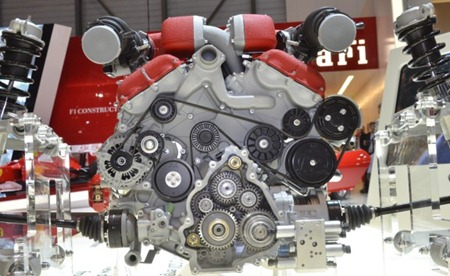 Ferrari FF engine front view