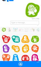 برنامج فيسبوك ماسنجر يدعم الملصقات و الإبتسامات و التى تضفى جو من المرح على المحادثات