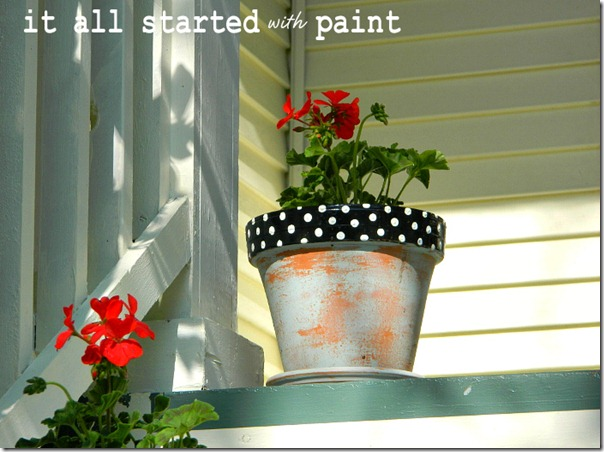 polka_dot_painted_pot_black_with_white