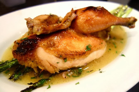 Roast Organic Chicken - cooked in konbu brine broth over low heat for ...